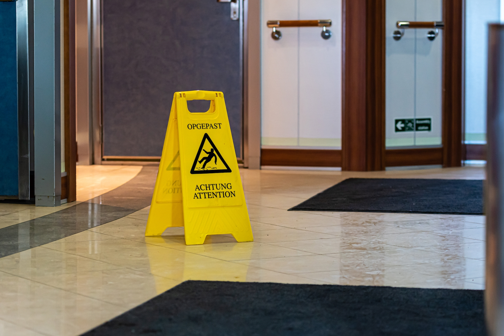 slippery floor warning - Personal Injury Attorney in Nashville - Wrongful Death Attorney, Truck Accident Lawyer, Car Accident Lawyer, and more | Meyers Injury Law